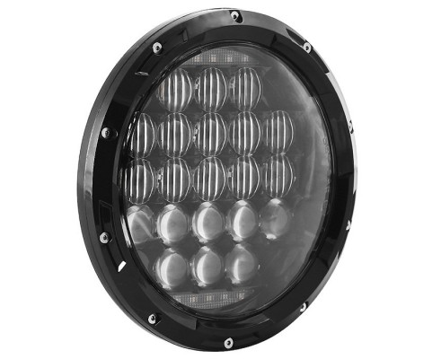 FARO A LED ANTERIORE MOTO  (faro per jeep abbagliante e anabbagliante -  7 pollici )  STREET GLIDE  HARLEY-DAVIDSON