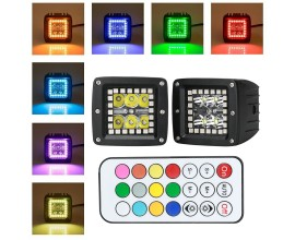 Led work bars Prebuit with RGB halo - 18w -