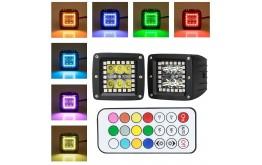 SET Faro A LED Occhi di angelo  Riflettore-Abbagliante- Anabbagliante Fendinebbia- Fanalino Luce Anteriore e Posteriore
