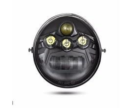 FARO A LED ANTERIORE per Harley Davidson - V ROAD - NERO - 60W