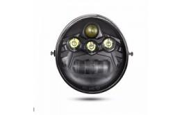 FARO LED ANTERIORE per Harley Davidson - V ROAD - NERO - 60W