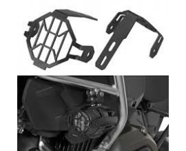 LIGHT GUARDS, BLACK, FOR BMW OEM LED LIGHTS, BMW R1200GS / ADV, 2013-ON (WC), F800GS / ADV 2012-ON