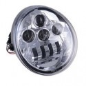 FARO A LED ANTERIORE per Harley Davidson - V ROAD - CROMATO - 60W