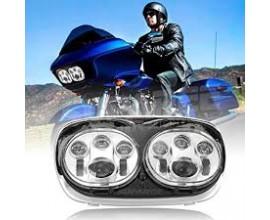 """DOPPIO FARO ANTERIORE LED 7"""" per il 2004 ~ 2013 Harley Davidson Road Glide"""