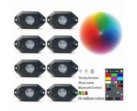 RGB mini LUCI A LED 9W controllabili dal cellulare BLUETOOTH - 8 COLORI RGB