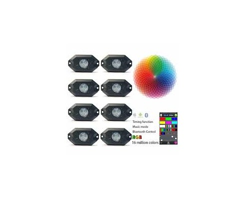 RGB mini LUCI LED 9W controllabili dal cellulare BLUETOOTH - 8 COLORI RGB