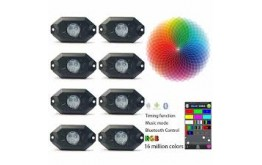 9W RGB mini LED rock light controled by cellphone