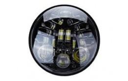 """FARO LED 5,75"""" ANTERIORE  con Gravity Sensor  per motocicletta e auto - NERO  -"""