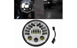 """FARO LED 5,75"""" ANTERIORE con Gravity Sensor  per motocicletta e auto - CROMATO -"""