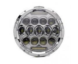 FARO LED ANTERIORE MOTO/AUTO PHILIPHS 7' abbaglianti/anabbaglianti - CROMATO -
