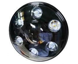 "LED HEADLIGHT FOR MOTORBYKE/CAR  HARLEY/JEEP  7"""