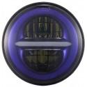"FARO LED 7"" BIG HOUSING - ANTERIORE  SFONDO BLUE"