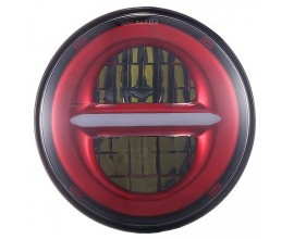 "FARO LED ANTERIORE  7"" - BIG HOUSING - ROSSO"