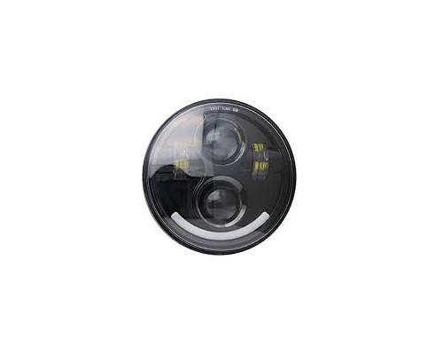 """FARO A LED """"SMILE"""" ANTERIORE MOTO/AUTO ( HARLEY-DAVIDSON   5.75 pollici)"""