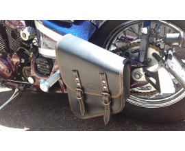 "BORSA ""PACH"" CHOPPERS LATERALE IN CUOIO - COLOR CUOIO - TELAIO SOFTAIL -"