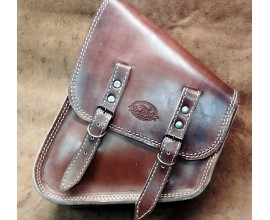 "BORSA ""PACH"" CHOPPERS LATERALE HARLEY SOFTAIL - CUOIO -"