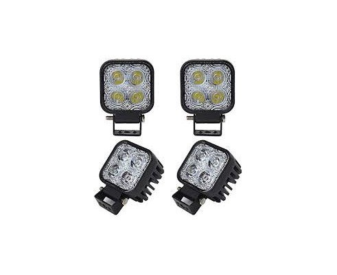 FARETTO LED QUADRATO 12W PER JEEP