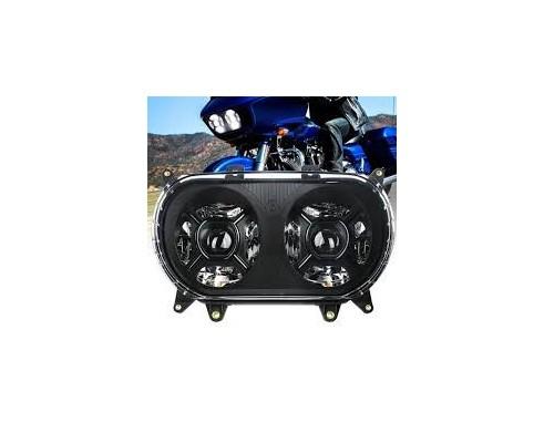 FARI TWIN  LED DOPPI PER HD-MODELLO ROAD GLIDE - NERO-