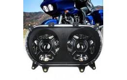 FARI TWIN  LED DOPPI PER HD-MODELLO ROAD GLIDE - CROMATO -
