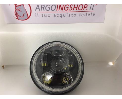 "FARO LED 5.75"" CON HALO -MOTORCYCLE CUSTOM NERO"